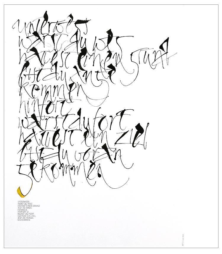 Triptrap Design Münster Düsseldorf - Kalligrafie